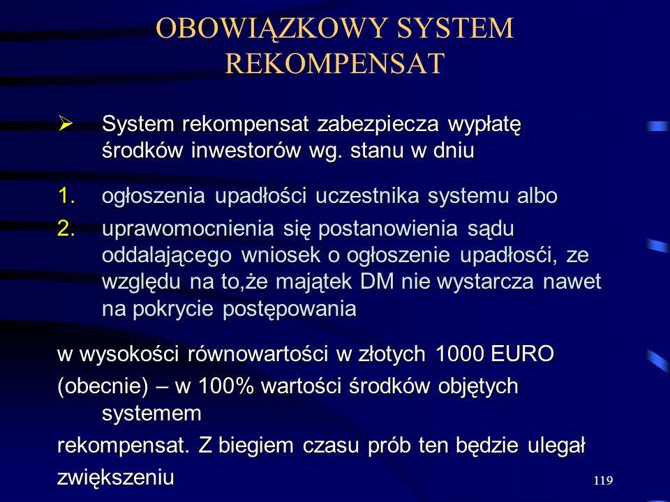 OBOWIĄZKOWY SYSTEM REKOMPENSAT