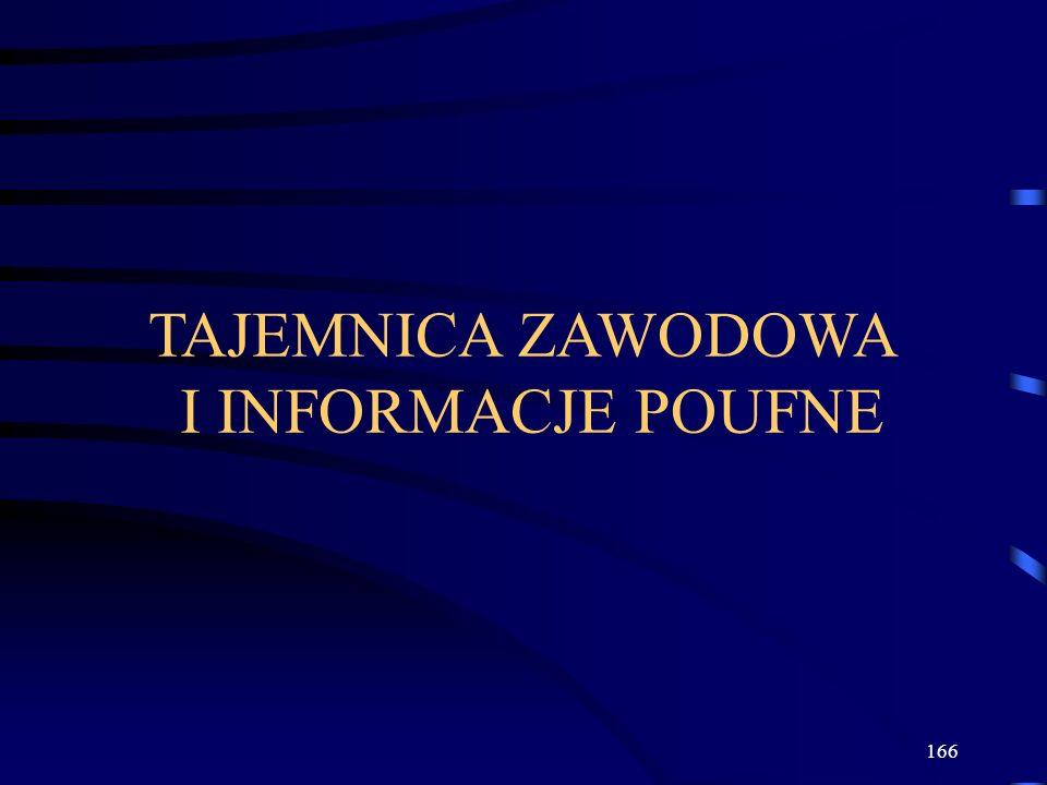 TAJEMNICA ZAWODOWA I INFORMACJE POUFNE