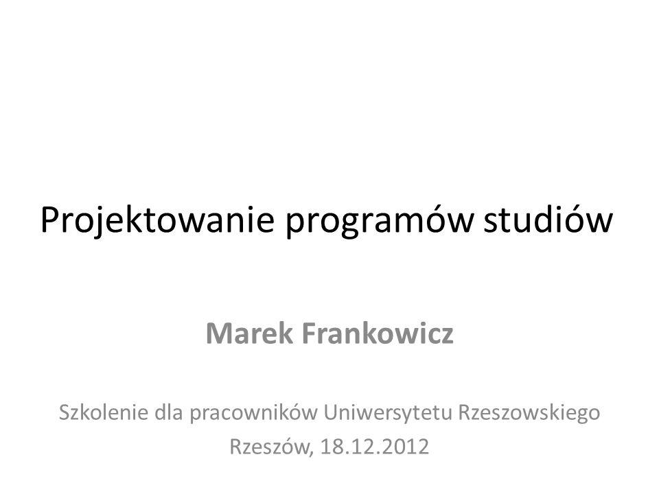 Projektowanie programów studiów