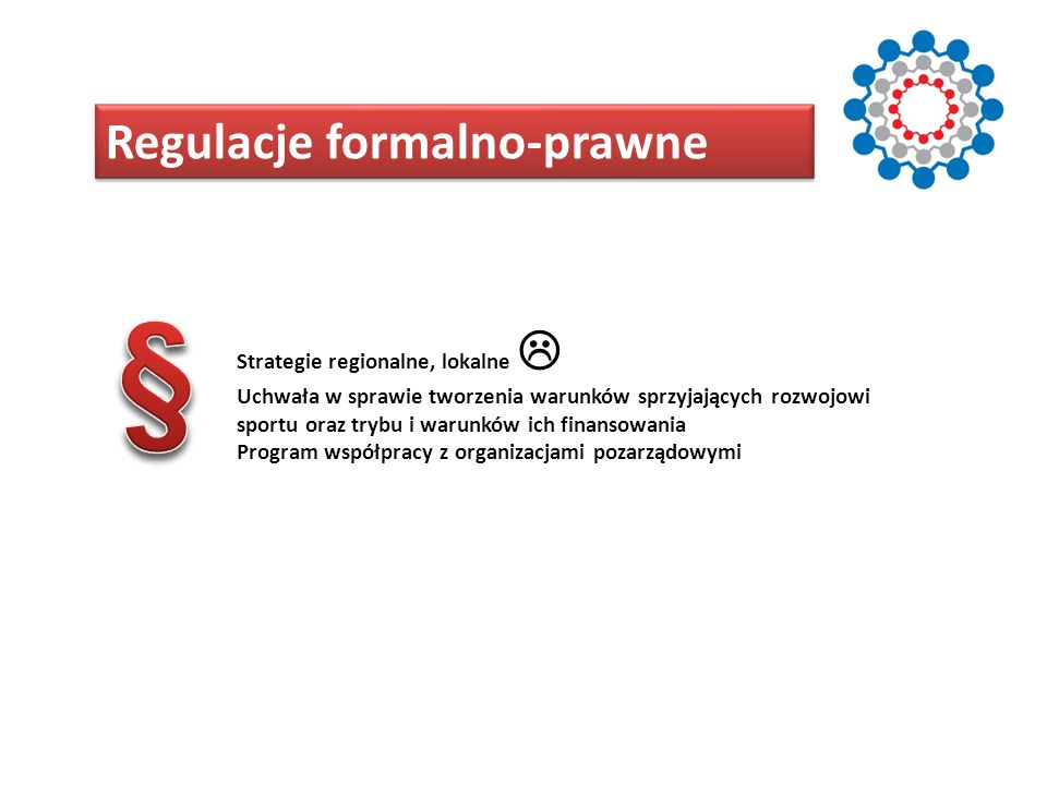 § Regulacje formalno-prawne Strategie regionalne, lokalne 