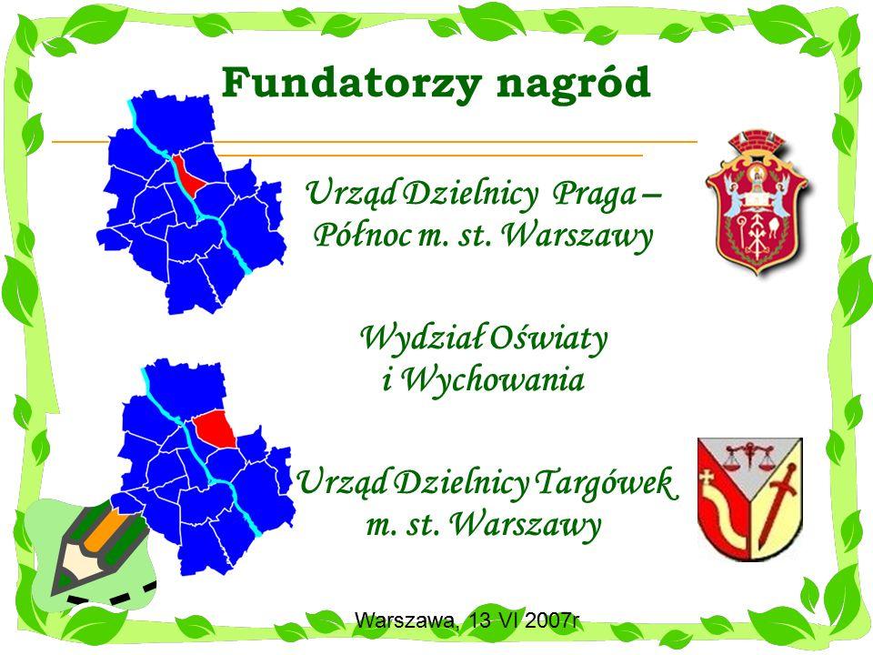 Fundatorzy nagród Urząd Dzielnicy Praga – Północ m. st. Warszawy
