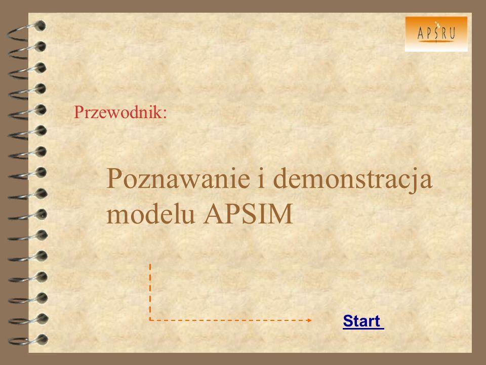 Poznawanie i demonstracja modelu APSIM