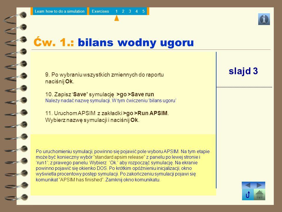 Ćw. 1.: bilans wodny ugoru slajd 3