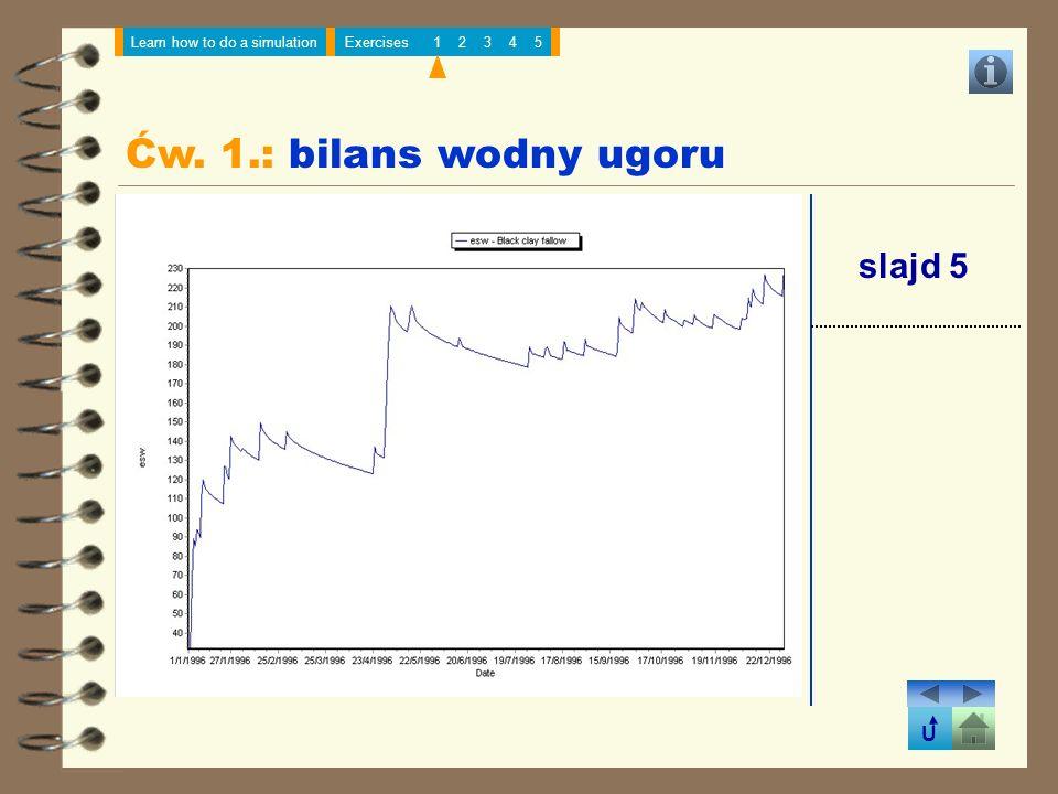 Ćw. 1.: bilans wodny ugoru slajd 5