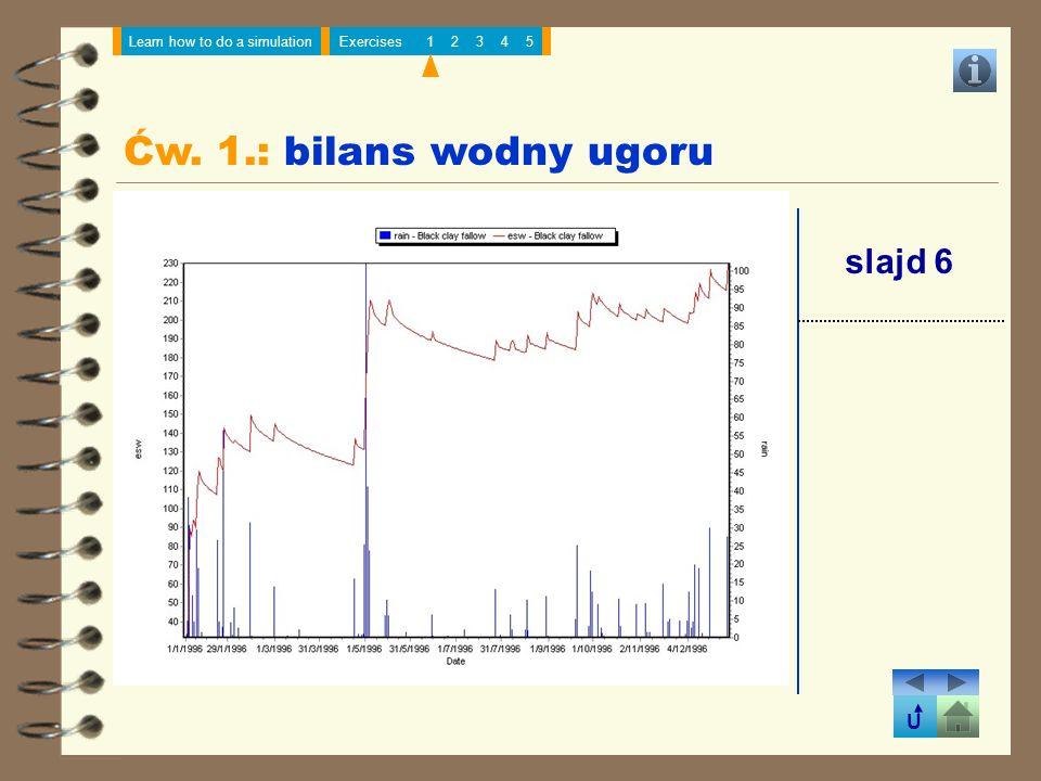 Ćw. 1.: bilans wodny ugoru slajd 6