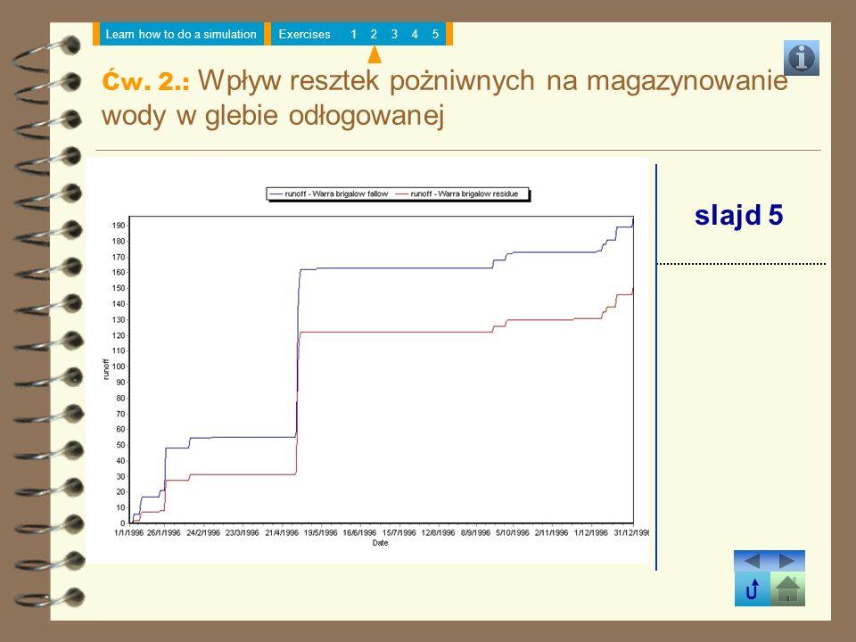 Ćw. 2.: Wpływ resztek pożniwnych na magazynowanie wody w glebie odłogowanej