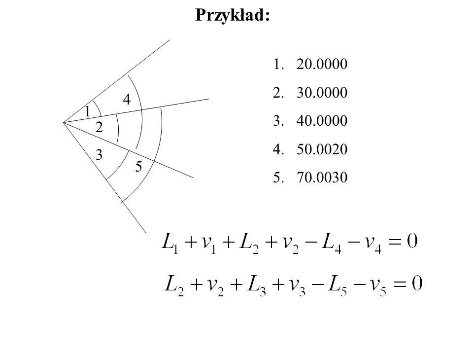 Przykład: 20.0000 30.0000 40.0000 50.0020 70.0030 4 1 2 3 5