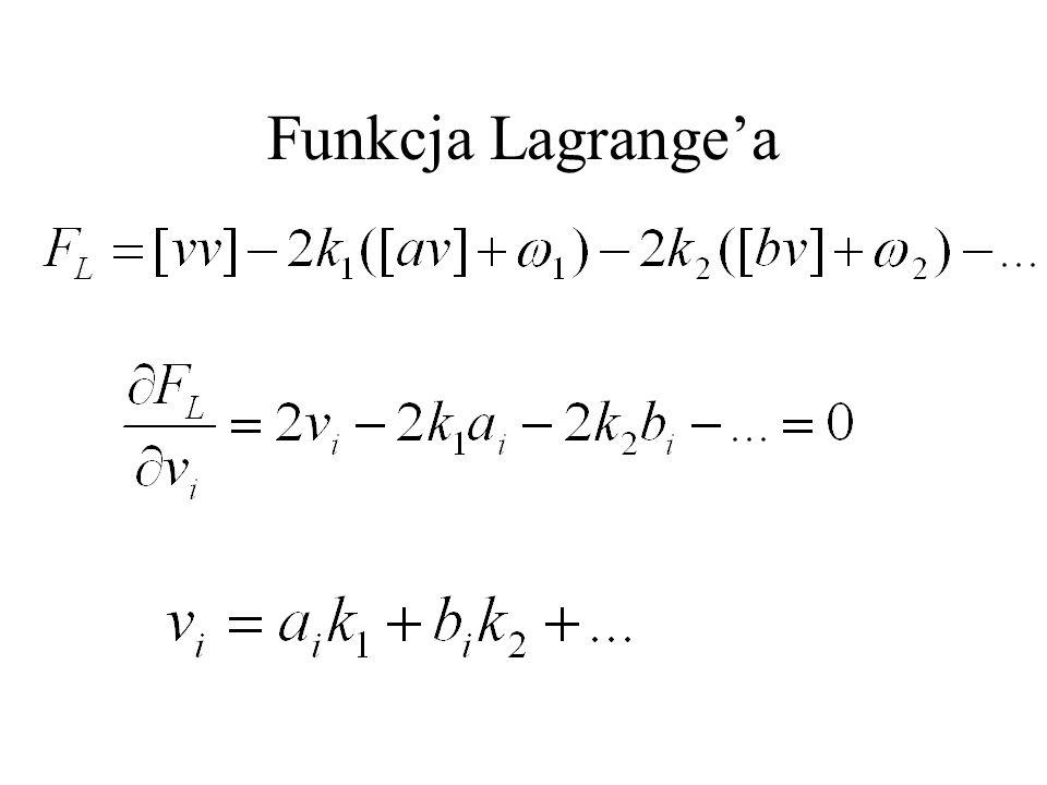 Funkcja Lagrange'a
