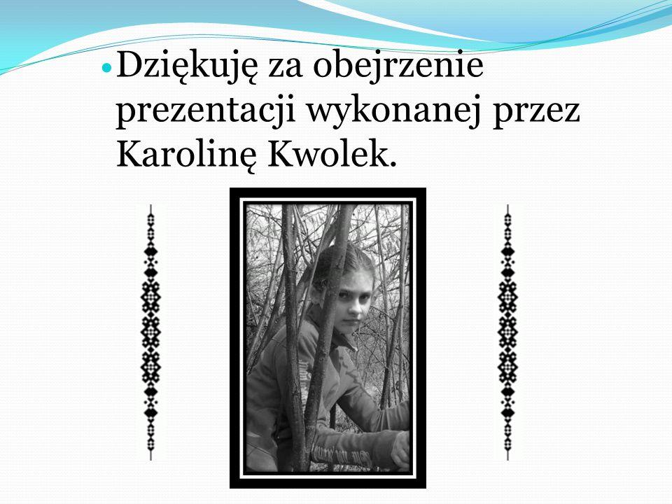 Dziękuję za obejrzenie prezentacji wykonanej przez Karolinę Kwolek.