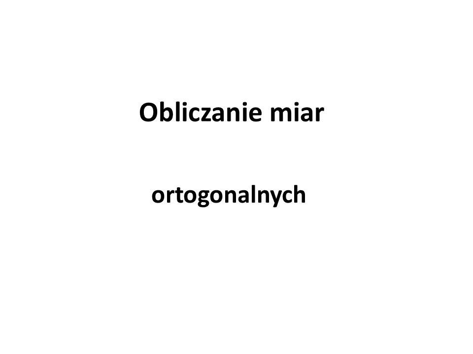 Obliczanie miar ortogonalnych