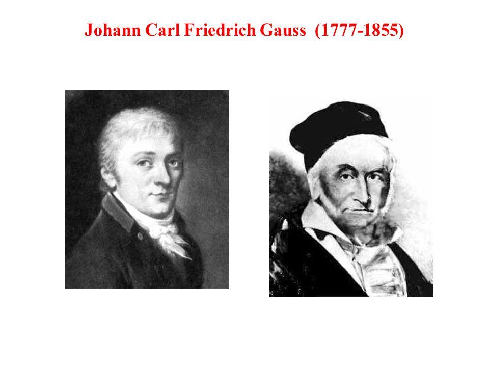 Johann Carl Friedrich Gauss (1777-1855)
