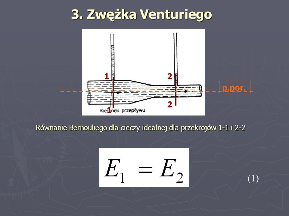 3. Zwężka Venturiego (1) 1 2 p.por.