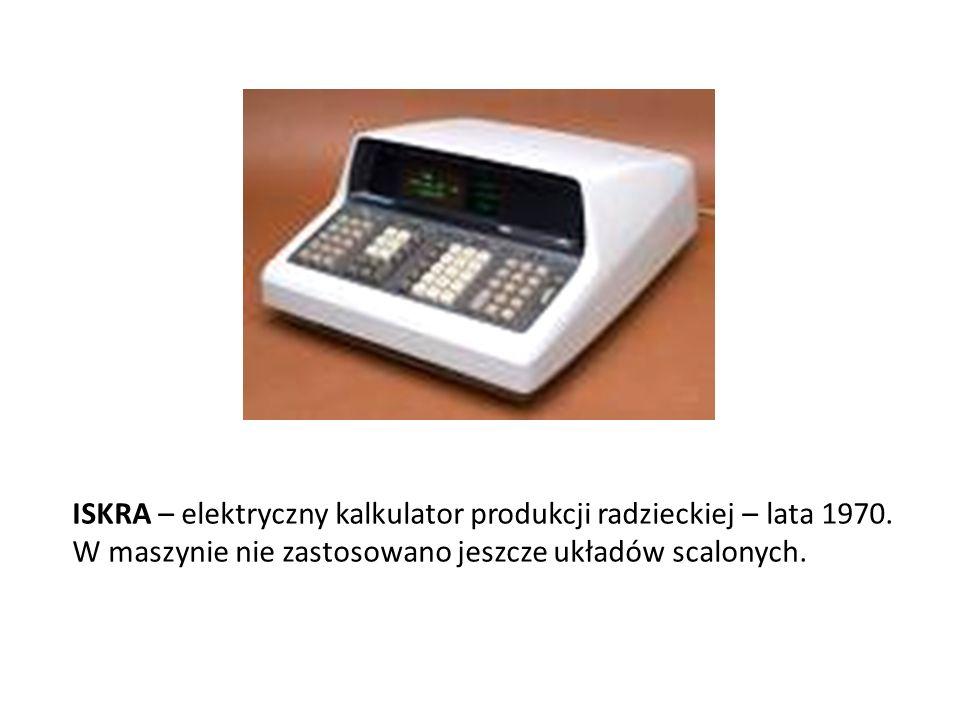ISKRA – elektryczny kalkulator produkcji radzieckiej – lata 1970.