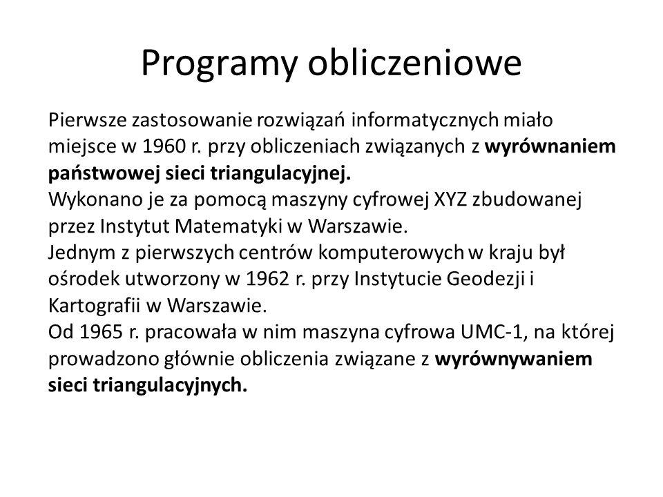 Programy obliczeniowe