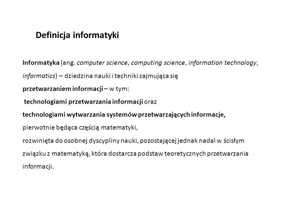 Definicja informatyki