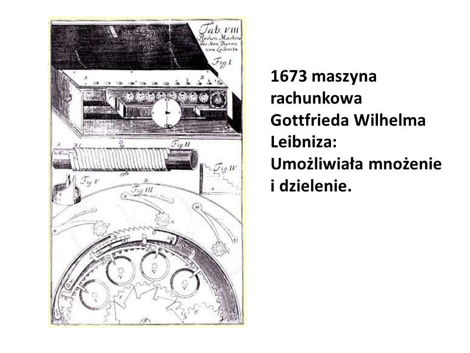 1673 maszyna rachunkowa Gottfrieda Wilhelma Leibniza:
