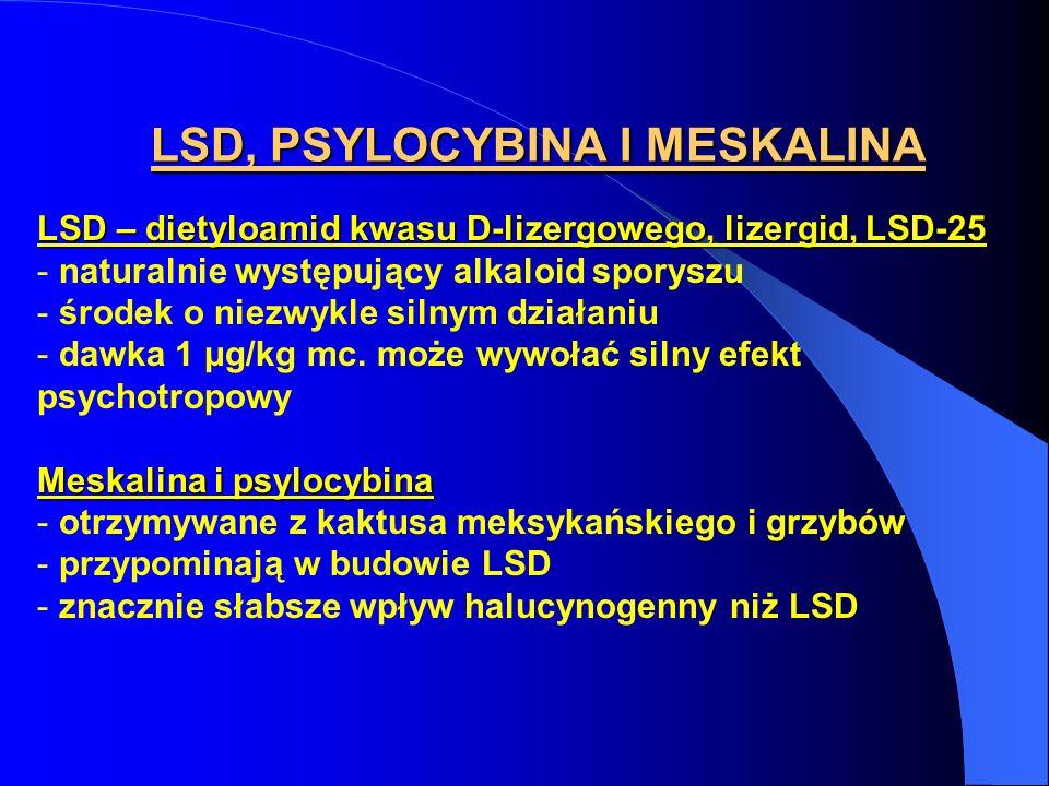 LSD, PSYLOCYBINA I MESKALINA