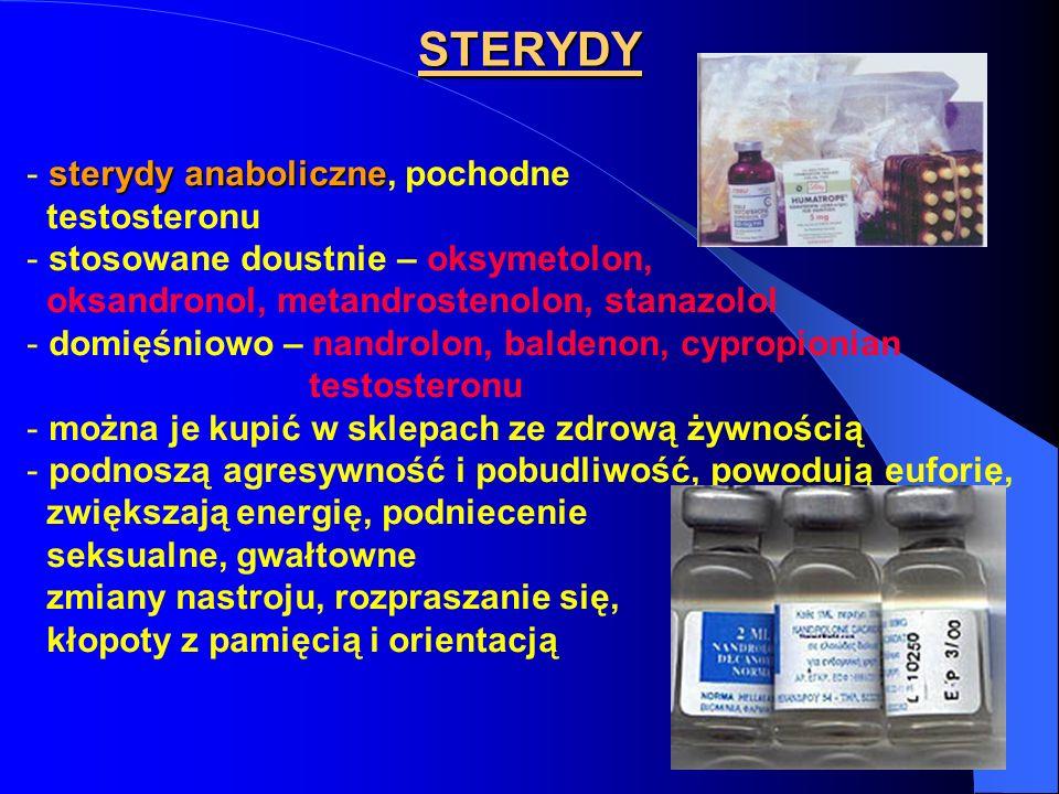 STERYDY sterydy anaboliczne, pochodne testosteronu