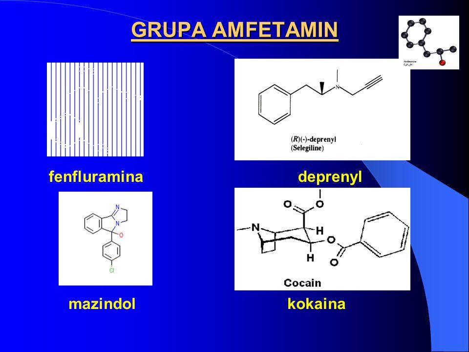 GRUPA AMFETAMIN fenfluramina deprenyl.