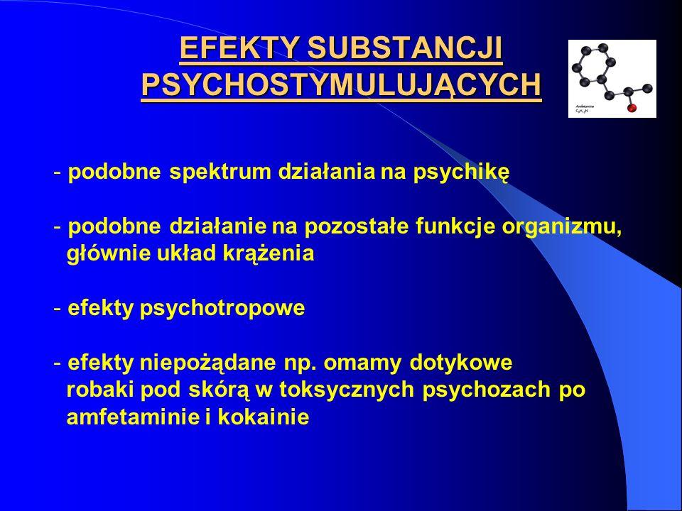 EFEKTY SUBSTANCJI PSYCHOSTYMULUJĄCYCH