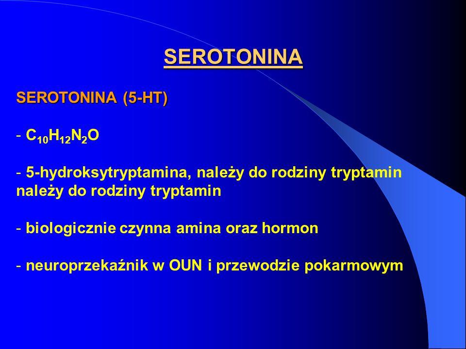 SEROTONINA SEROTONINA (5-HT) C10H12N2O