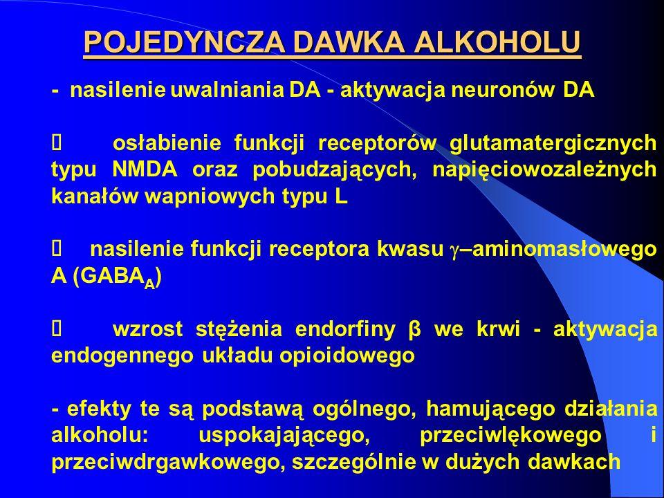 POJEDYNCZA DAWKA ALKOHOLU