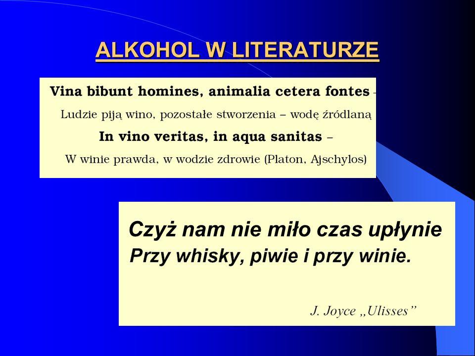 ALKOHOL W LITERATURZE Czyż nam nie miło czas upłynie