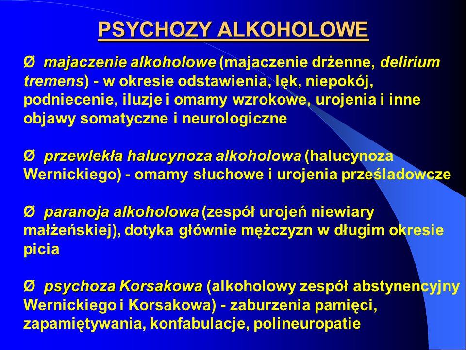 PSYCHOZY ALKOHOLOWE