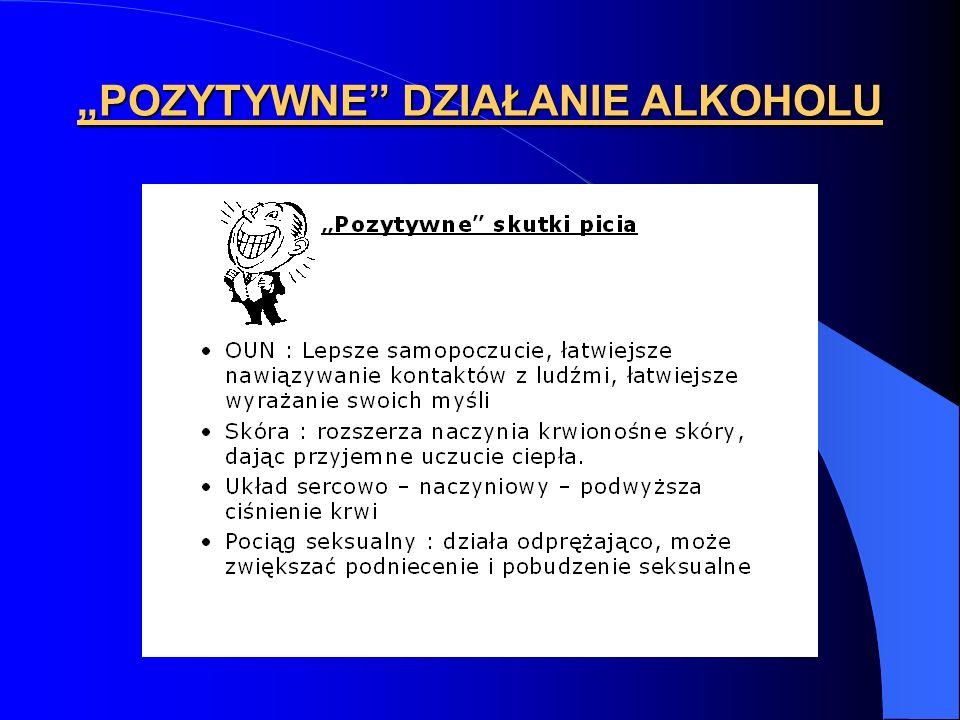 """""""POZYTYWNE DZIAŁANIE ALKOHOLU"""