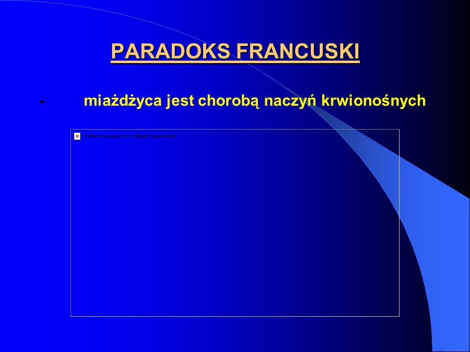 PARADOKS FRANCUSKI - miażdżyca jest chorobą naczyń krwionośnych