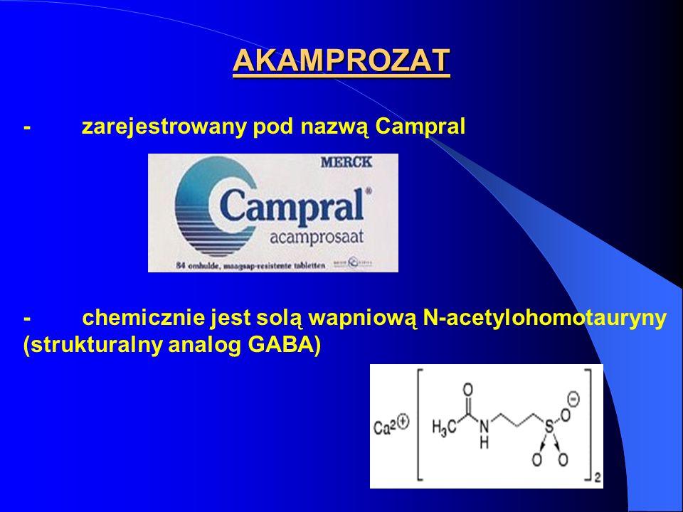 AKAMPROZAT - zarejestrowany pod nazwą Campral