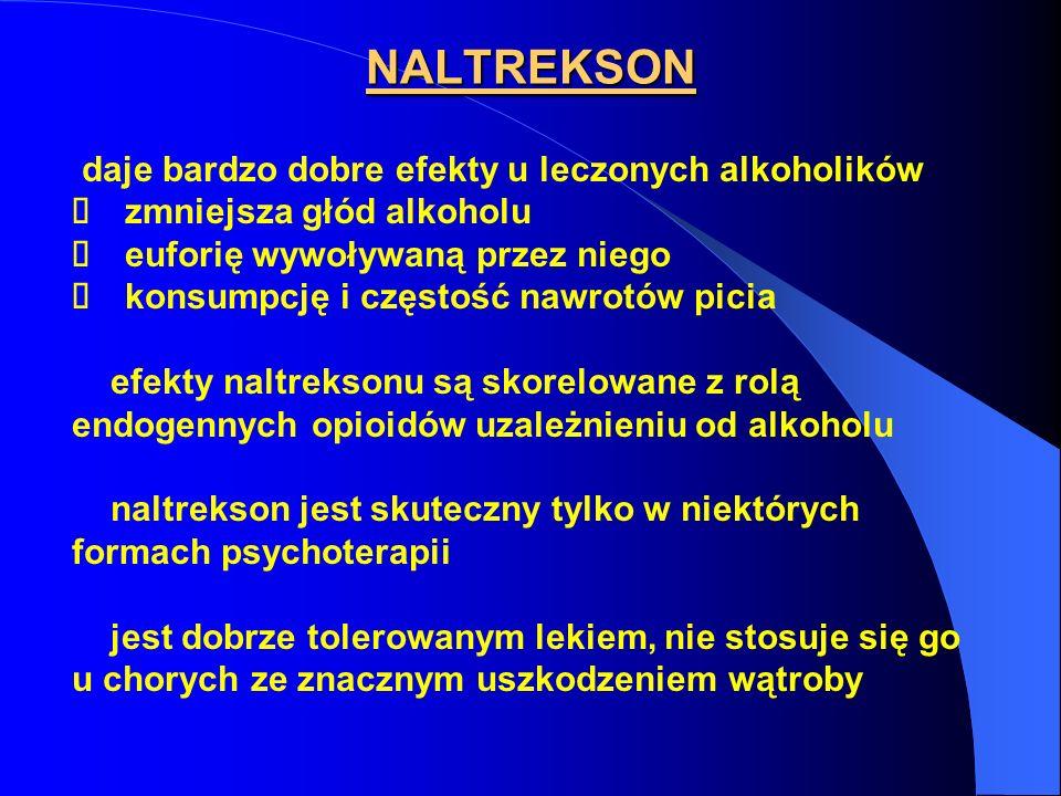 NALTREKSON daje bardzo dobre efekty u leczonych alkoholików