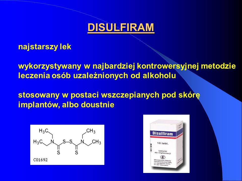 DISULFIRAM najstarszy lek