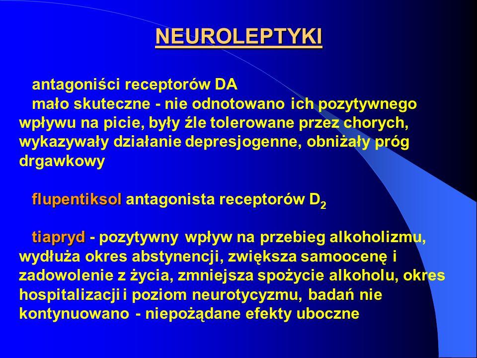 NEUROLEPTYKI antagoniści receptorów DA