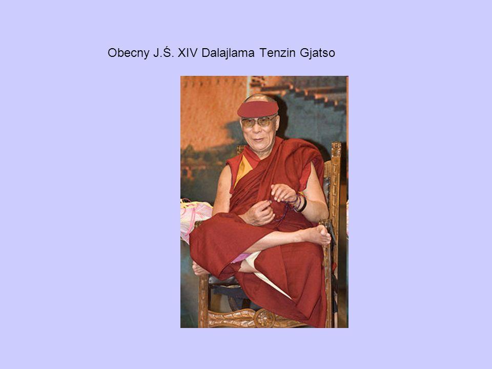 Obecny J.Ś. XIV Dalajlama Tenzin Gjatso