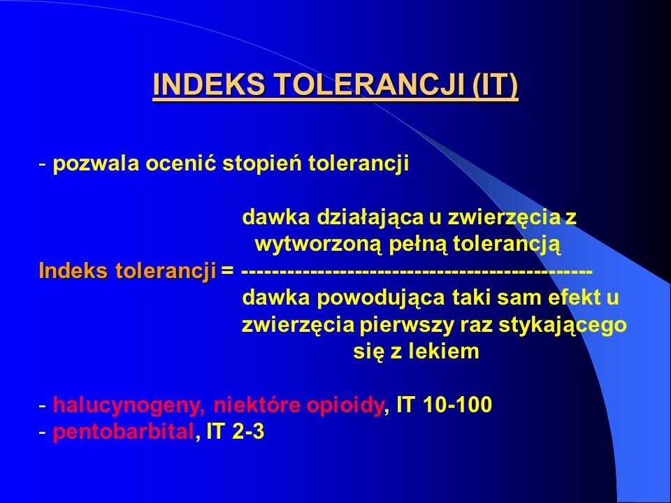 INDEKS TOLERANCJI (IT)