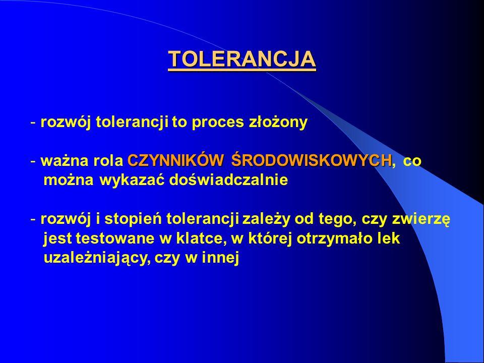 TOLERANCJA rozwój tolerancji to proces złożony
