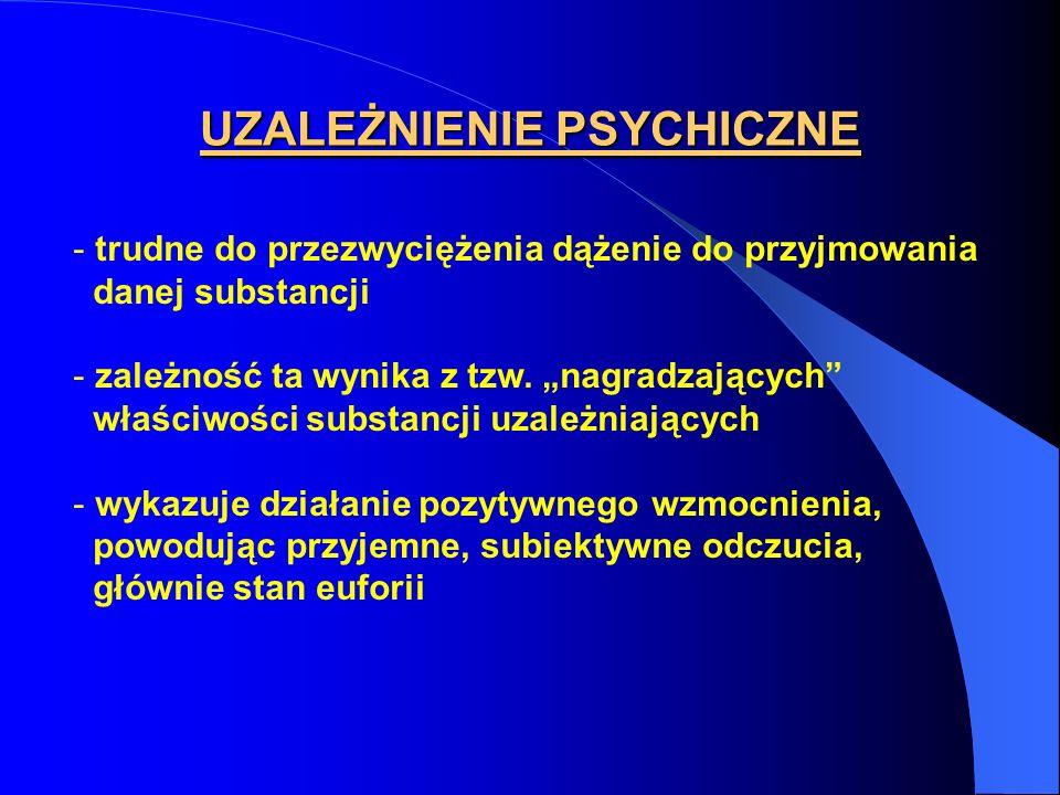 UZALEŻNIENIE PSYCHICZNE