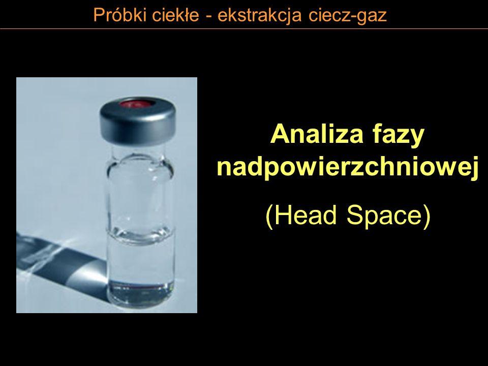 Próbki ciekłe - ekstrakcja ciecz-gaz