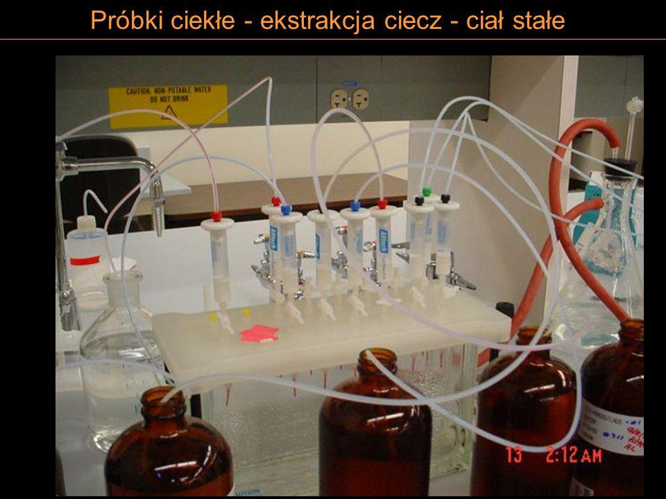 Próbki ciekłe - ekstrakcja ciecz - ciał stałe