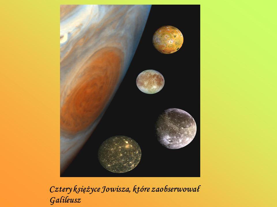 Cztery księżyce Jowisza, które zaobserwował Galileusz