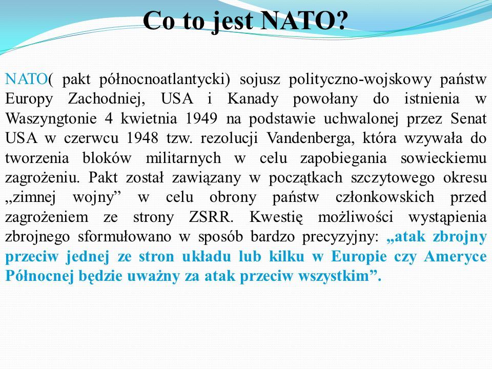 Co to jest NATO