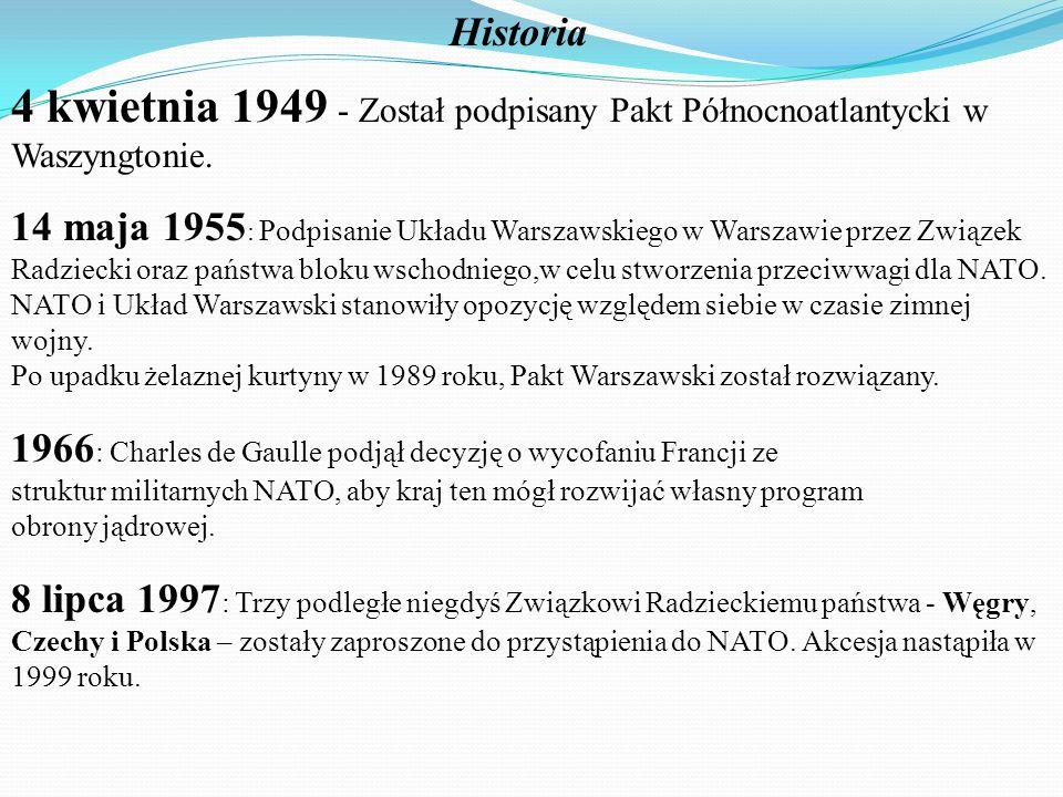 Historia 4 kwietnia 1949 - Został podpisany Pakt Północnoatlantycki w Waszyngtonie.