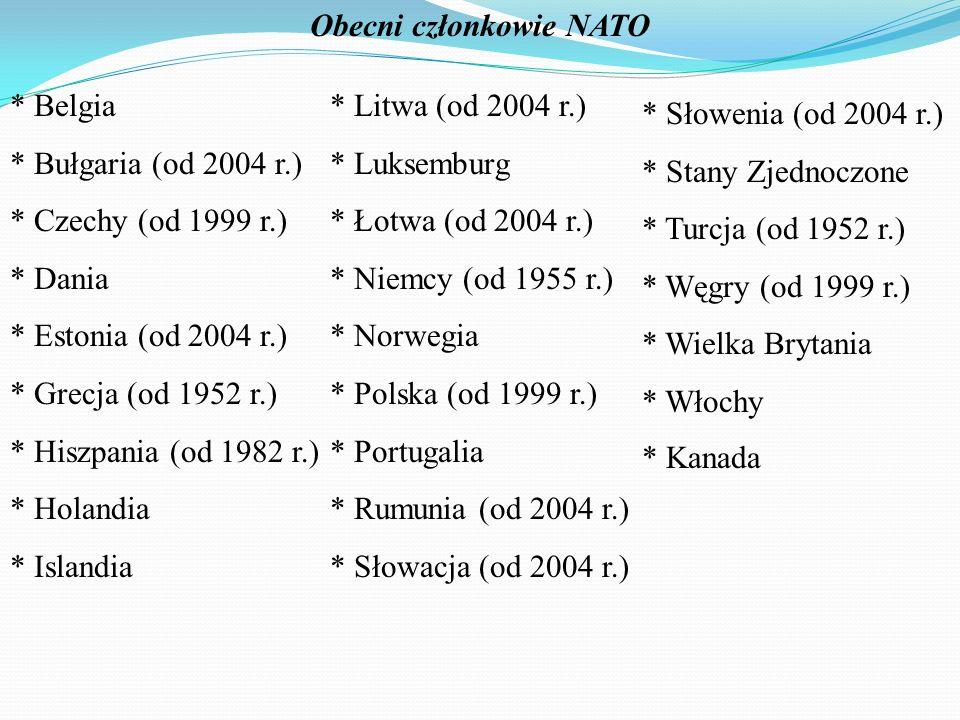 Obecni członkowie NATO