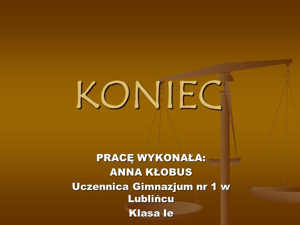 Uczennica Gimnazjum nr 1 w Lublińcu
