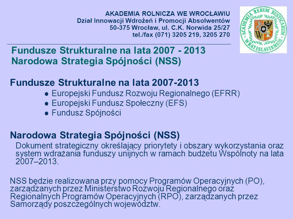 Fundusze Strukturalne na lata 2007-2013
