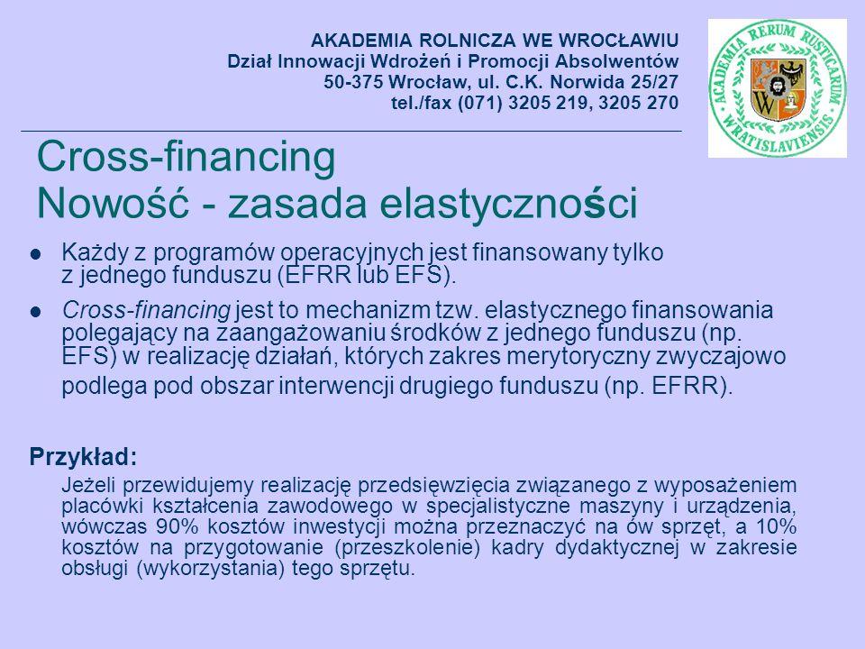 Cross-financing Nowość - zasada elastyczności