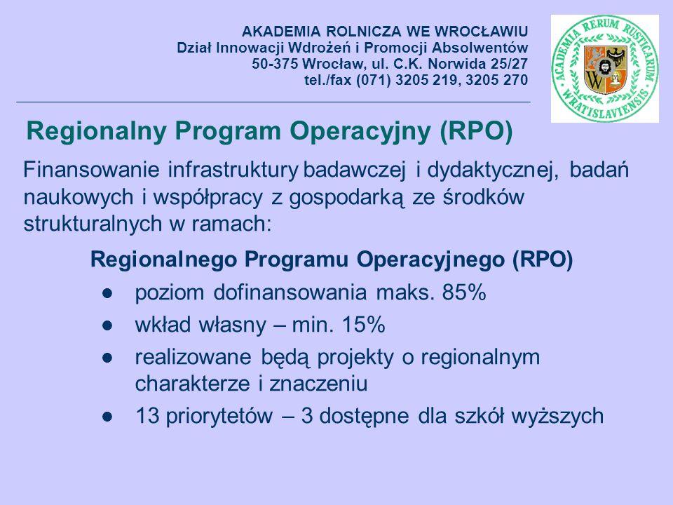 Regionalny Program Operacyjny (RPO)