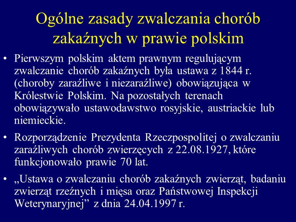 Ogólne zasady zwalczania chorób zakaźnych w prawie polskim