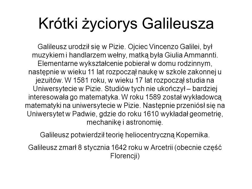 Krótki życiorys Galileusza